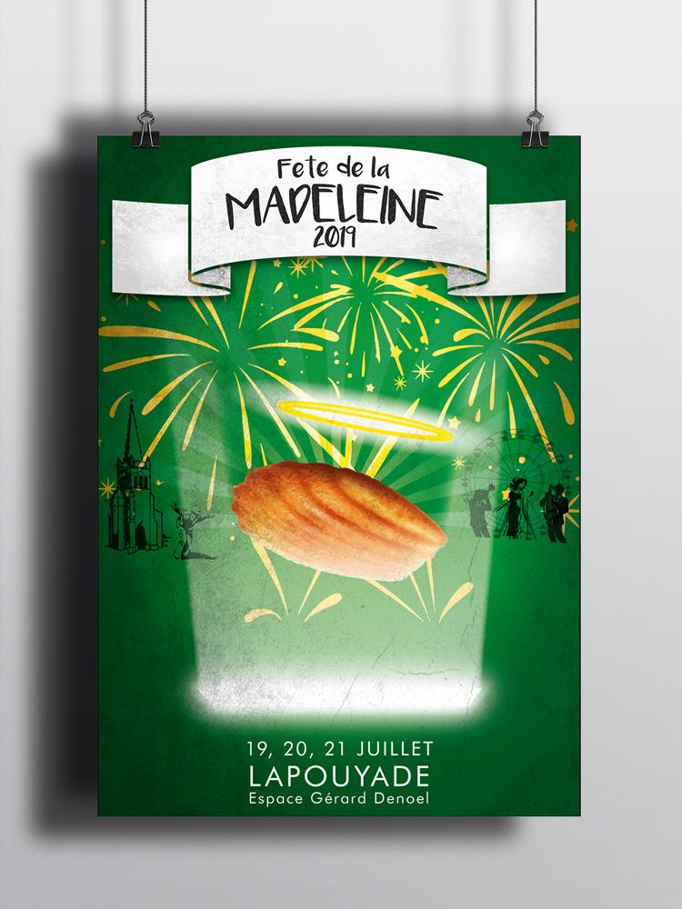 Proposition affiche fête de la Madeleine 2019-Lapouyade